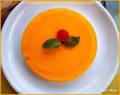 Coconut Milk Panna Cotta with Mango Jelly | Tanya's Recipes