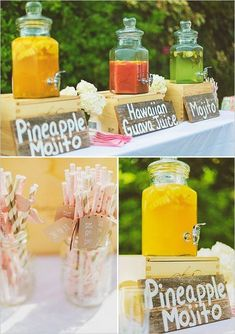[tps_header] Whether you are hosting a bridal shower, a garden wedding or a day-after brunch, drink stations are a lovely way to really get creative and interac
