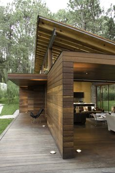 Weekend country house nestled in a forested site in Mexico