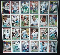 1991 Topps Miami Dolphins Team Set of 24 Football Cards #MiamiDolphins