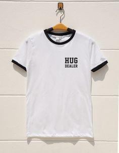 S M L XL  Pocket Tshirts Hug Dealer Shirt Funny Quote by monopoko