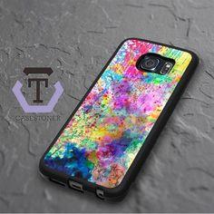 Abstract Color Water Color Samsung Galaxy S6 Edge Black Case