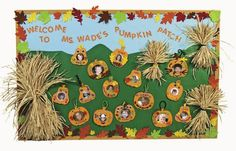 "This teacher has mixed red, yellow, orange, and green leaves together to create a very colorful fall bulletin board display idea for the theme: ""Fall In Love With Learning!"" Description from pinterest.com. I searched for this on bing.com/images"