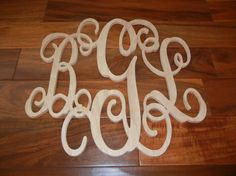 18 Monogram Wood Letter Initials by Stricklandwood on Etsy