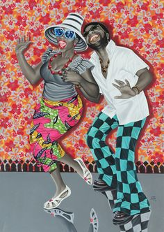 "Music, rhythm and dance are the beating heart of two vibrant exhibitions in Paris. ""Beauté Congo"" at the Fondation Cartier puts André Magnin's long. Cheri Samba, Fondation Cartier, Art Afro, Contemporary African Art, Contemporary Design, African Artists, Art Moderne, Art Plastique, Black Art"
