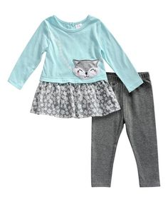 This so-sweet set offers comfy style with a touch of pretty charm to refresh your little lady's wardrobe.