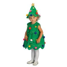 Lil Christmas Tree Child Costume Size Toddler 2-4