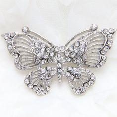Butterfly rhinestone appliqué Butterfly by lovesparkleville