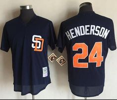 Mitchell And Ness 1996 Padres  24 Rickey Henderson Navy Blue Throwback  Stitched MLB Jersey Rickey 2126bd67b