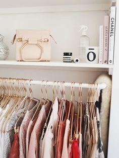 rose gold hangers closet katelavie