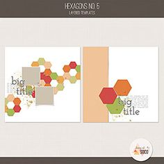Hexagons No. 5 from Designed by Soco. These templates can help you create your next digital scrapbooking page in no time. Scrapbook Templates, Scrapbook Designs, Scrapbook Page Layouts, Scrapbook Pages, Pocket Cards, Spring Day, Journal Cards, Paper Design, Pattern Paper