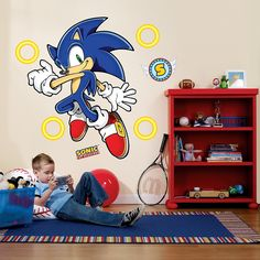 Sonic the Hedgehog Wall Decals.  We put these in one of our boys' rooms and he is just crazy about them!  Fun way to redecorate without much effort.