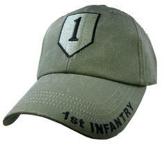 1ST INFANTRY OD GREEN Baseball Cap - Meach's Military Memorabilia & More