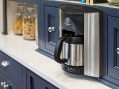 Get tips from HGTV Smart Home 2016 tech consultant Carley Knobloch on ways to hide technology throughout your home so it seamlessly blends with surrounding design. Built In Coffee Maker, Drip Coffee Maker, Get Rid Of Mold, Kitchen Sponge, Dishwasher Soap, Kitchen Pictures, Kitchen Ideas, Kitchen Designs, Vinegar And Water