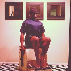 Night Visions @PilatesDwell_Canton   Low Chair Exercise: Seated Pumping - Footwork Series #homestudio #latenightworkout #fedora • #pilates #pilatesstudio #pilatesinstructor #pilatesformen #pilatesmen #contrology #classicalpilates #calisthenics #gymnastics #yoga #fitness