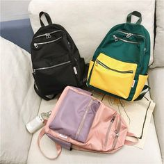 Cool Backpacks For Girls, Best Backpacks For School, Boys Backpacks, Campus Style, Backpack For Teens, School Bags For Girls, High School Students, Black Backpack, Fashion Backpack