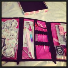 """""""Customer's Timeless Beauty Bag for all her 'nail art' supplies."""""""