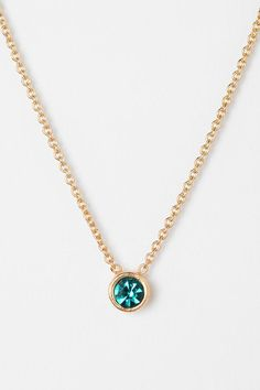 Teeny Tiny Stone Necklace #urbanoutfitters