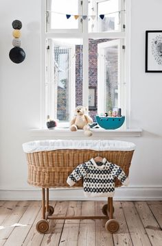 Brighten up the nursery with a pop of colour! Take a look at these baby nursery ideas and see how you can personalise the space. Baby Bedroom, Nursery Room, Kids Bedroom, Deer Nursery, Themed Nursery, Nautical Nursery, Master Bedroom, Unique Cribs, Style Baby