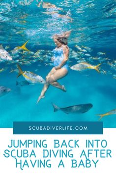 Reasons for forgoing scuba diving after having a baby vary from having no time to worries it might be dangerous. Here's why it's a great activity to begin again when you can. #scubadiving #diving #scubadivingaftergivingbirth #scubadivingafterhavingababy Scuba Diving Gear, Family Resorts, Having A Baby, Snorkeling, Underwater, Articles, The Incredibles, Community, Adventure