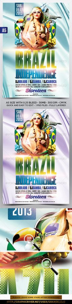 Spring Break Party Flyer Template PSD Spring break, Flyer - holiday flyer template example 2