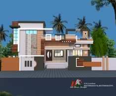 House Outer Design, House Balcony Design, House Wall Design, Single Floor House Design, Bungalow Haus Design, House Outside Design, Village House Design, Duplex House Design, Kerala House Design
