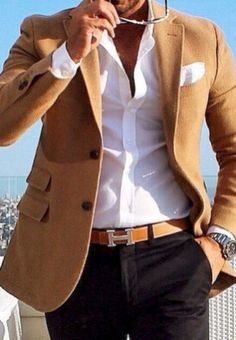 Casual Men Style Outfit Ideas with Suit 19
