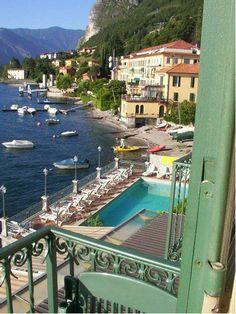 balcony hotel Bellavista – Menaggio -Lake Como – Province of Como , Lombardy. Beautiful walk around the Lake. Lac Como, Must See Italy, Italy Tourist Attractions, Comer See, Lake Como Italy, Italian Lakes, Lake Garda, Northern Italy, Venice Italy