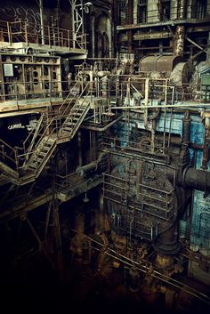 Inside an abandoned power plant in New Orleans, LA