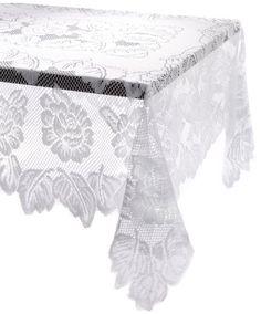 "DII 100% Polyester, Machine Washable Tablecloth Floral Lace 60 x 90"" DII http://www.amazon.com/dp/B007U2HHIO/ref=cm_sw_r_pi_dp_k4zfvb16Y8TQ1"