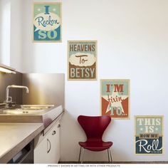 Southern Phrases Wall Decal Set 12 x 16 Removable Wall Sticker