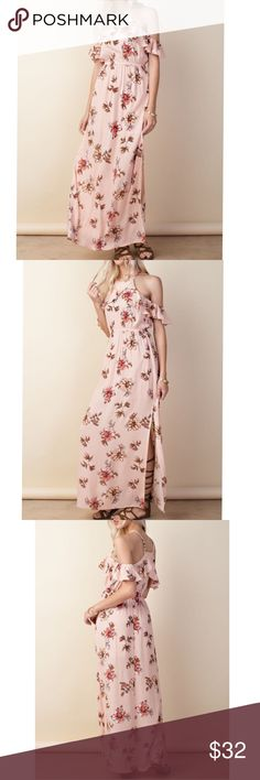Cold shoulder floral maxi ruffle dress Cold shoulder floral maxi ruffle dress Dresses Maxi