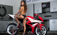 honda and girl | Janey with the 2012 Honda CBR600RR Project - 6 of 12 - 1680x1050 ...