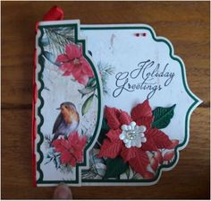 Marianne Design, Flower Cards, Poinsettia, Handmade Christmas, Cardmaking, Christmas Cards, Greeting Cards, Sketches, Paper Crafts