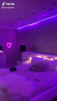 Neon Bedroom, Cute Bedroom Decor, Bedroom Decor For Teen Girls, Room Design Bedroom, Room Ideas Bedroom, Dream Teen Bedrooms, Chill Room, Cozy Room, Pinterest Room Decor