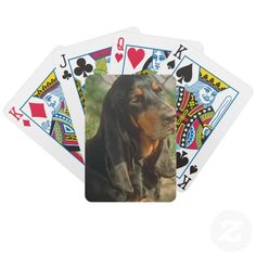 black and tan coonhound card decks