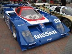 Nissan GTP ZX-Turbo Road Race Car, Road Racing, Sports Car Racing, Auto Racing, Classic Race Cars, Automotive Group, Vintage Race Car, Le Mans, Mazda