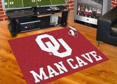 Collegiate University of Oklahoma Man Cave All-Star Area Rug