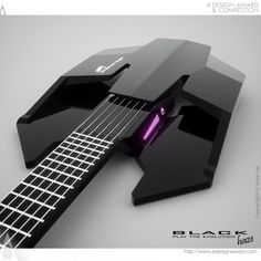 Electric guitar with the advanced technology of today, read more at www.designspawn.com/black-haze-electric-guitar