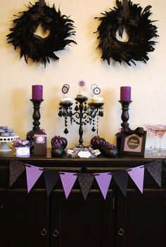 Haute Halloween dessert table