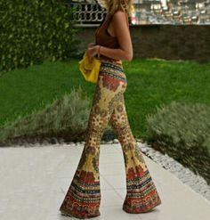 Gypsy Bell Bottom Loose Wide Leg Pants