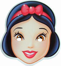 Printable Masks, Printables, Free Printable, Mascaras Halloween, Modele Pixel Art, Diy Masque, Snow White Birthday, Paper Mask, Disney Princess Party