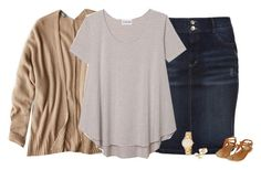 """""""Stripes and Tan"""" by kc-cupcake-lover ❤ liked on Polyvore featuring s.Oliver, American Eagle Outfitters, Olive + Oak, Yoko London and Kate Spade"""