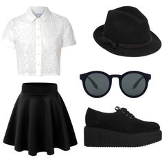 BLaCK by hotsoostuff on Polyvore featuring polyvore fashion style Glamorous Karl Lagerfeld RED Valentino
