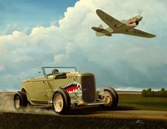 '32 Highboy and P-40