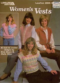 Leisure Arts 295 Knitting Crochet Patterns Women Vest Cardigan Tunic Bolero 1984 #LeisureArts #KnitCrochetPatterns