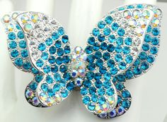 Hey, I found this really awesome Etsy listing at https://www.etsy.com/listing/232170209/ombre-butterfly-cocktail-ringstatement