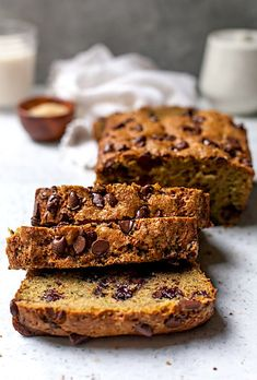 Chocolate Chip Zucchini Bread Recipes This ultra-moist zucchini bread is dotted with chocolate chips, making it the perfect loaf of zucchini bread! Moist Zucchini Bread, Chocolate Chip Zucchini Bread, Zucchini Bread Recipes, Chocolate Chip Banana Bread, Chocolate Chips, Zucchini Cake, Healthy Chocolate, Chocolate Desserts, Chocolate Lovers