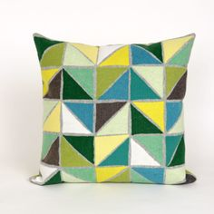 Visions II Triangles Throw Pillow