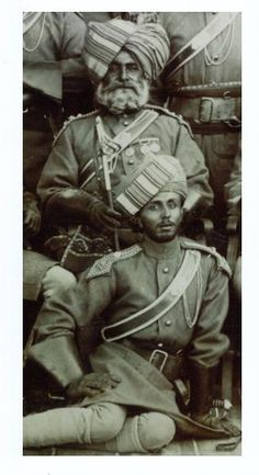 Picture of the Day: This is a stunning portrait of two ICOs or VCOs of the Bombay Lancers circa The one seated is a rather imposing gent! Uk History, History Of India, Colonial India, British Colonial, British Indian, British Army, Bengal Lancer, Military Archives, Nostalgic Images